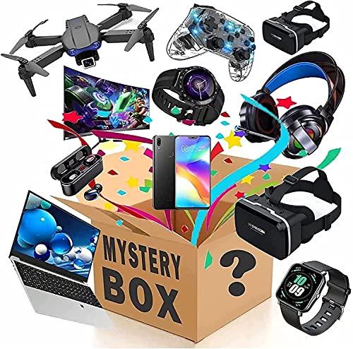 Caja de misterio, caja de misterio electrónica, cajas de misterio aleatorio, caja de sorpresa de cumpleaños, caja de suerte interesante y emocionante, como drones, relojes inteligentes, gamepads y más