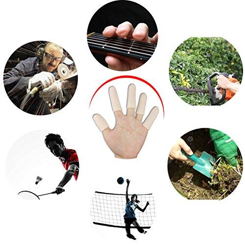 Gel Finger Cots, Finger Protector Support(14 PCS) New Material Finger Sleeves Great for Trigger Finger, Hand Eczema, Finger Cracking, Finger Arthritis and More. (Small Size)