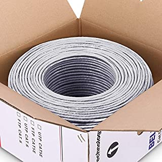Computer Cables & Connectors - 50m 100m Grey UTP CAT5e cable OFC copper wire box cable shaft RJ45 network twisted pairs fo...