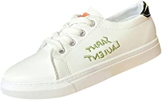 [Mhomzawa] スニーカー レディース スポーツシューズ ジム ウォーキング ジョギング 超軽量 履きやすい かわいい レタープリント シンプル 通勤 通学 カジュアル 運動 靴