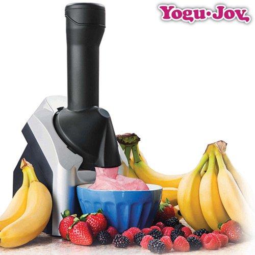 Yogu-joy Frozen yogurt quest'aereo *** Per fare il gelato macchina del ghiaccio piatti piani per fare il gelato *** Contenitore per il ghiaccio in modo sano *** Solo frutta *** Lattosio ghiaccio ***