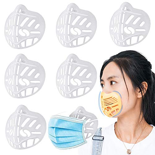 3D Mask Bracket Protect Lipstick Lips - 3D Mask Holder Inner Support Mouth and Nose Increase Breathing Space - DIY Face Mask Accessories (6 PCS)