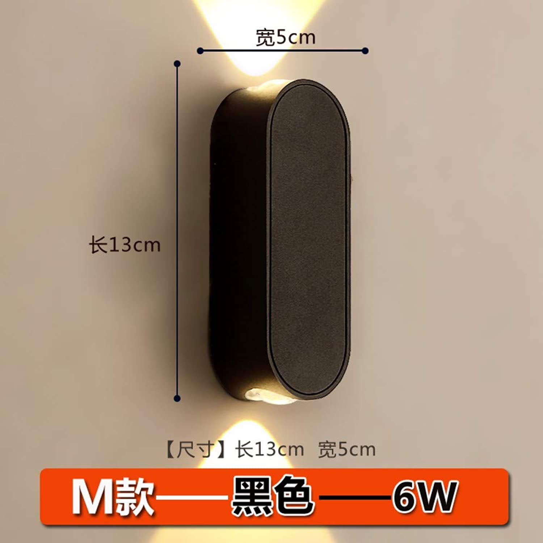 Xinxin24 Wandleuchte Schlafzimmer Nacht Wohnzimmer Treppenhaus Korridor Hof Hotel Led Moderne Minimalistische Wasserdichte Wandleuchte, Stil 19, Gelbes Licht 13  5Cm, 6W