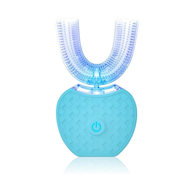 支出ラオス人煙スマートU形自動電動歯ブラシ音波歯ブラシ4モードUsb充電歯を白く360度、B