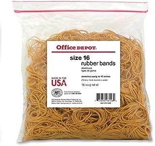 Office Depot Brand Rubber Bands, 16, 2 1/2