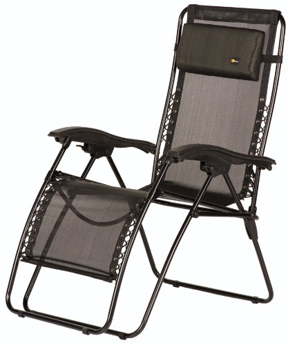 Faulkner 48962 Malibu Style Black Mesh Standard Size Recliner with Plastic Armrests