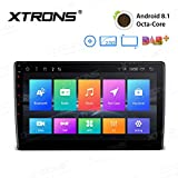 XTRONS 10,1' Touch Screen Double Din DVD-Player Autoradio mit Android 8.1 Octa-Core unterstützt 4K Videos 3G&4G Bluetooth5.0 2DIN 2GB RAM 16GB ROM DAB & OBD2 TPMS Funktion 2.5D Gebogener...
