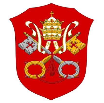 Aufkleber Vatikan Heiliger Stuhl Rom Wappen Sticker Autoaufkleber