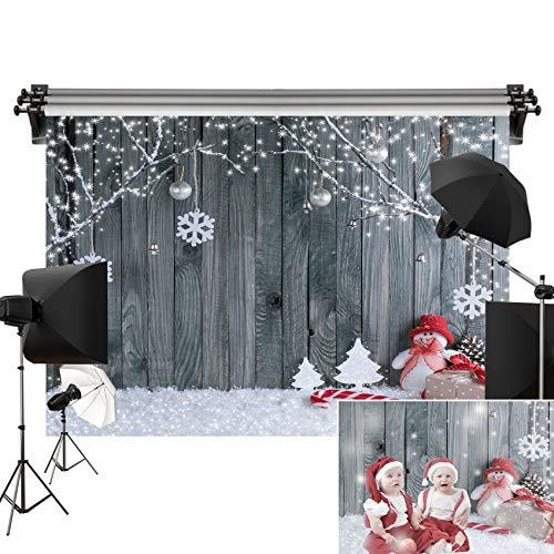 Kate 7x5ft/2.2m(W) x1.5m(H) Holiday Winter Backdrop Wood Wall Backgrounds Shiplap Holiday Backdrops Snow Decorations Photography Studio Props