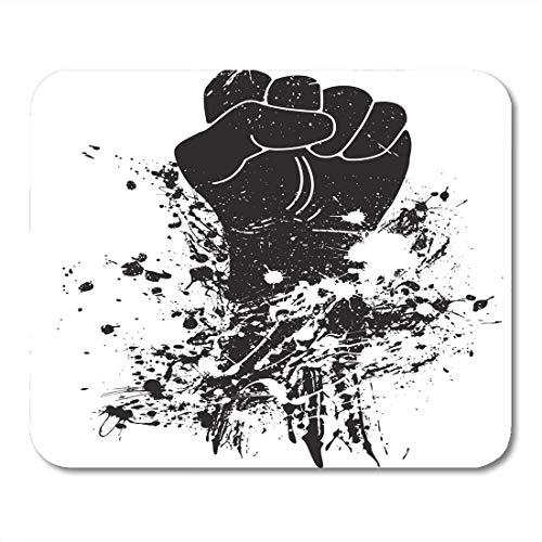 Preisvergleich Produktbild Mauspads Punch White Martial Fist Revolution Boxen Wrestling Karate Protest Mauspad für Notebooks,  Desktop-Computer Matten Büromaterial