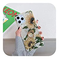 Yokkg ドリームシェルリングホルダー電話ケースFor iPhone12 Pro 11 Pro Max XR XS Max X 7 8 Plus SE 2 11Pro 12Mini Vintage Flower Back Cover-T1-For iPhone 8