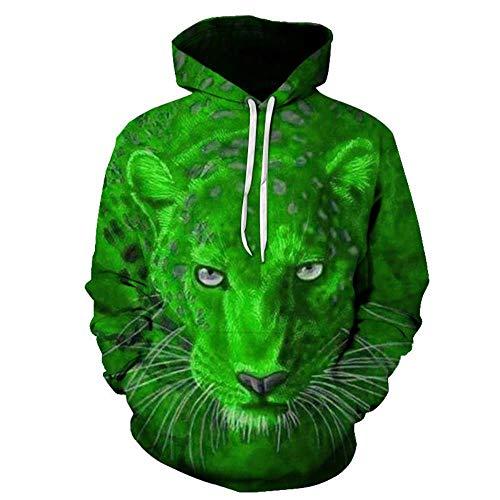 Mr. Cotton Leopardo Rojo suéter Fresco 7 Colores Opcional otoño e Invierno Sudadera con Capucha 3D suéter con Capucha chaqueta-WDT-208,XL