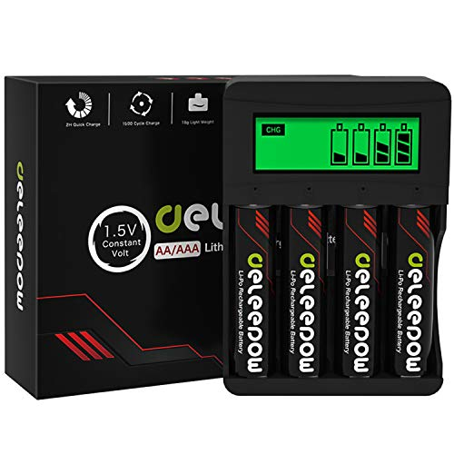 DeleepowRechargeable Batteries w/Charger Only $15.40 (Retail $25.82)