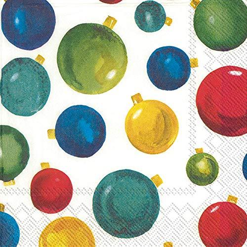 Servilletas de Navidad, servilletas de cóctel, servilletas de papel decorativas para fiestas de Navidad, servilletas modernas de Navidad, adornos de 5 x 5 pulgadas, paquete de 40