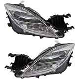 For Mazda 6 Headlight Assembly Unit 2009 2010 Pair Driver and Passenger Side | Halogen Type | DOT Certified | MA2518127 + MA2519127