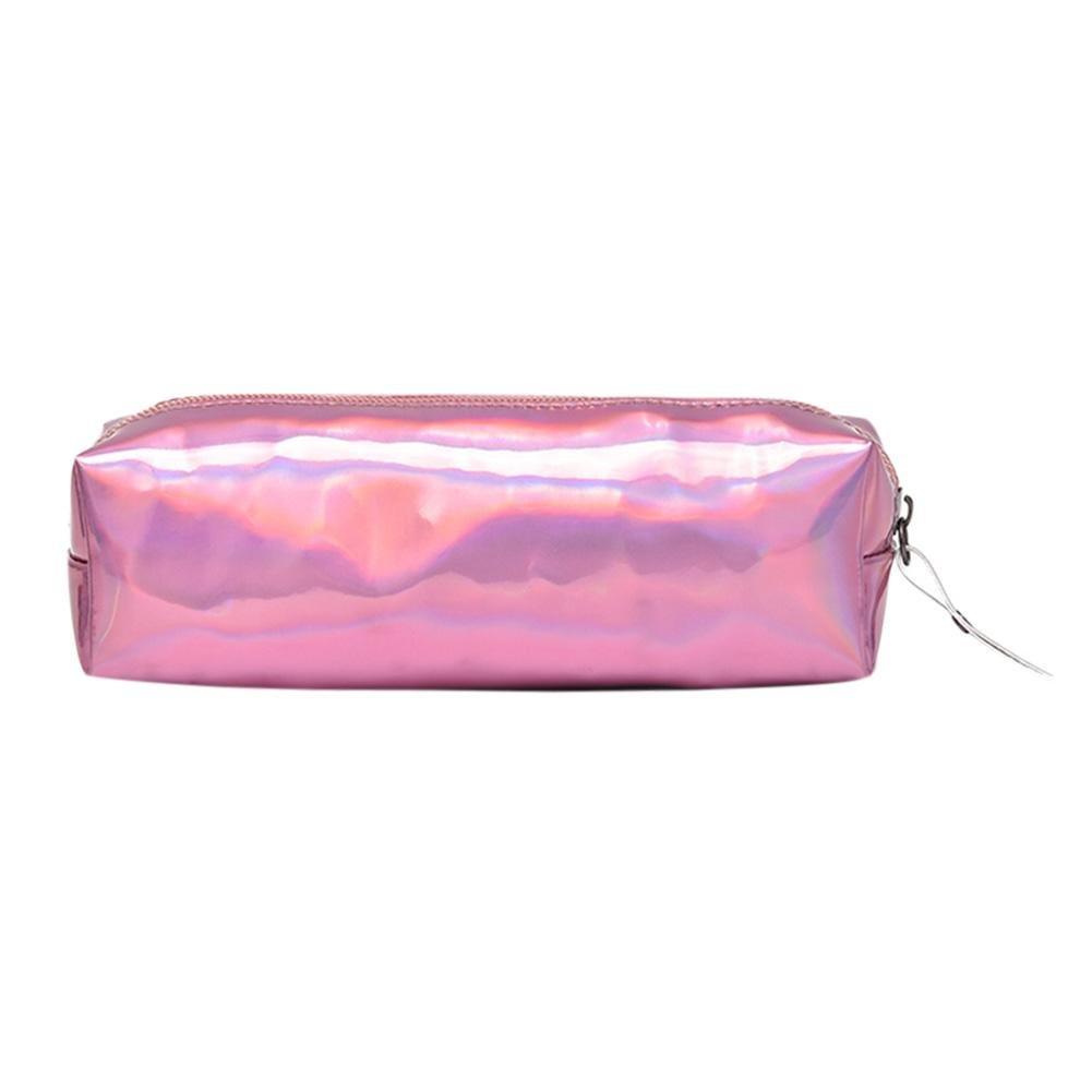 Matefield - Estuche de lápices holográficos para maquillaje y bolso de mano, color rosa: Amazon.es: Oficina y papelería