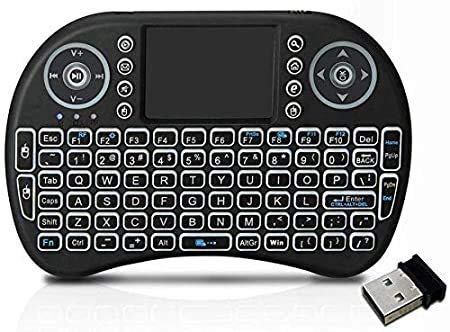 Shoppers4u Mini Wireless Keyboard and Mouse(Touchpad) with Smart Function for Smart Tv, Android Tv Box, Android & iOS Devices (Black)