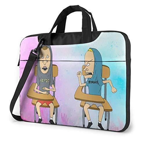 IUBBKI 14 inch Laptop Bag Beavis and Butt-Head Laptop Bag Laptop Briefcase Shoulder Messenger Bag Case Sleeve