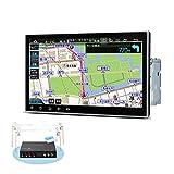 カーナビ 2DIN XTRONS 10.1インチ Android10.0 車載PC フルセグ 地デジ搭載 4G通信対応 DVDプレーヤー 8コア 4GB+64GB ゼンリン地図付 カーオーディオ WIFI Bluetooth GPS マルチウインドウ CarAutoPlay対応 (TMA105SI-MAP)
