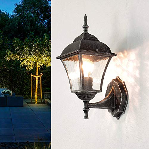 Iluminación de camino rústica para jardín, 36 cm de alto,