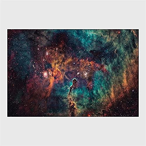 ZAZN Alfombra Antideslizante Y Resistente Al Desgaste Hermosa Cielo Estrellado Espacio Universo Alfombrilla para El Hogar Sala De Estar Dormitorio Alfombra De Cocina
