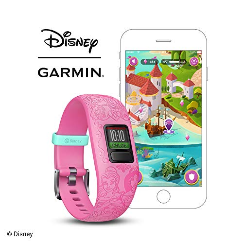 Garmin Vivofit Jr2 Disney Princess, 6+ anni, Rosa