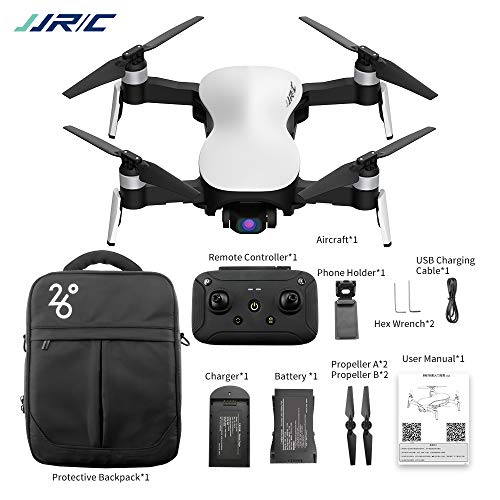 RONSHIN JJRC X12 GPS Drohne 5G WiFi FPV Brushless Motor 1080P HD Kamera GPS Dual Mode Positionierung Faltbare RC Drohne Quadcopter RTF Weiß