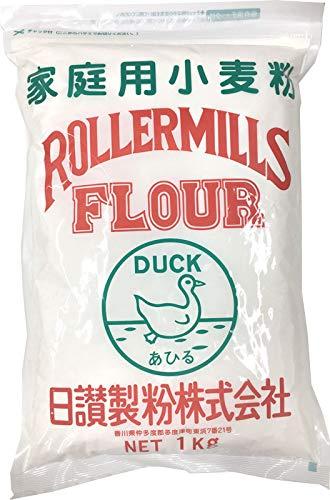 日讃製粉 うどん粉 緑あひる 讃岐うどん専用小麦粉 (1kg)