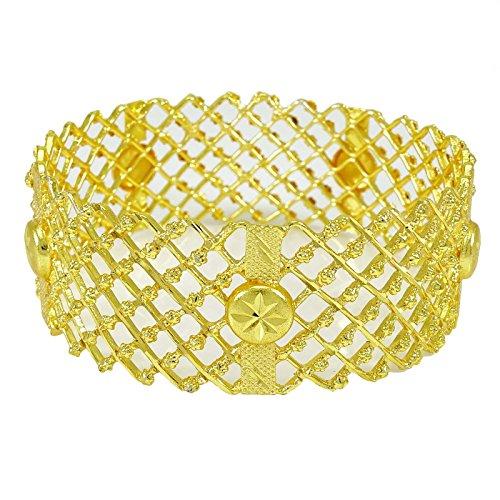 Banithani 18K Gold Überzogene Ethnischen Traditionellen Armreifen Bollywood Schmuck Geschenk Für Sie 2 * 6