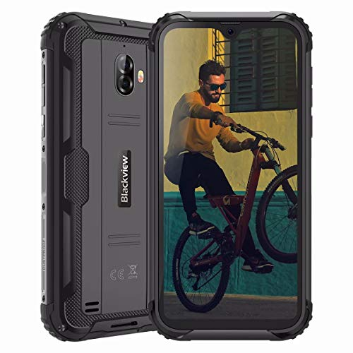 Rugged Smartphones, Blackview BV5900 Rugged Phone Android 9.0 Pie, 4G Dual SIM, 5580mAh Battery, 5.7'' Screen, 13MP+5MP, 3GB+ 32GB, Waterproof Shockproof PhoneNFC/Face ID/GPS/WiFi/OTG - Black