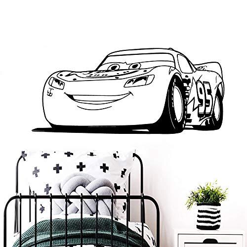 Coche de dibujos animados moderno impermeable etiqueta de la pared decoración del hogar pvc tatuajes de pared dormitorio jardín de infantes decoración creativa otro color 43x96 cm