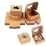 PandaHall 30 Pack Kraft Quadratische Seifenkiste Mit Ahornfenster Mini-Kraftpapier-Geschenkbox Für...