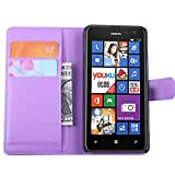 Tasche für Nokia Lumia 625 Hülle, Ycloud PU Ledertasche Flip Cover Wallet Hülle Handyhülle mit Stand Function Credit Card Slots Bookstyle Purse Design lila