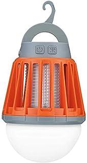 電撃殺虫器 蚊取り UV光誘引 充電式 LEDランタン 3つ調光モード IPX6 完全防水 丸洗い可 蚊除け 虫除け 薬剤不要 吊り下げ 屋内・アウトドアで大活躍 キャンプ オレンジ