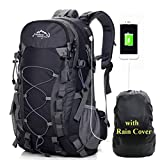 A AM SeaBlue Hiking Backpack 40L Trekking Rucksack Travel Daypack with USB Charging