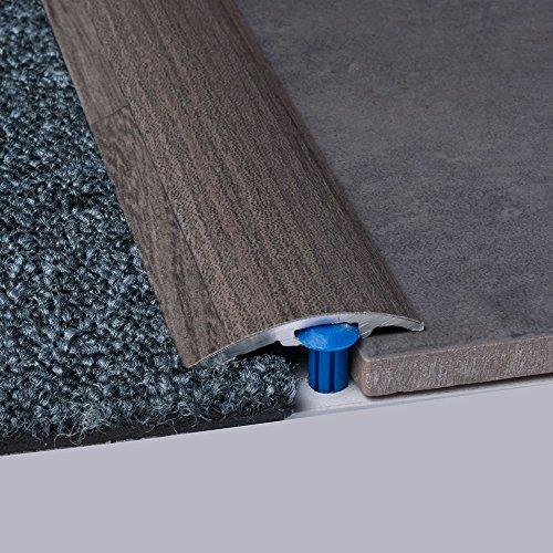 Laminat-Ausgleichsschiene Ulme 900 mm, für 4 - 14 mm Höhenunterschied