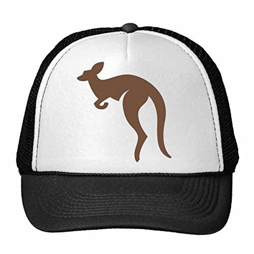 DIYthinker Australia Sabor Canguro Ilustración de la Silueta Gorros Gorra de béisbol...