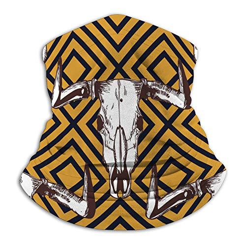 NA Neck Scarf Outdoor UV-Schutz Party Cover Nahtlose Streifenmuster handgezeichnete Büffel Windproof Cover