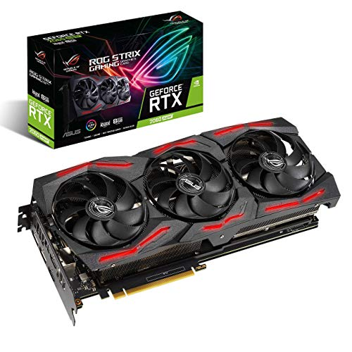 ASUS ROG Strix NVIDIA GeForce RTX 2060 Super EVO V2 Advanced Edition Gaming Graphics Card (PCIe 3.0, 8GB GDDR6 Memory, HDMI, DisplayPort, Axial-tech Fan Design, Auto-Extreme) (Renewed) Arizona