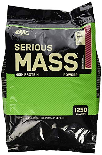 Serious Mass Weight Gainer, Erdbeere, 5,45 kg