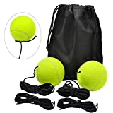 SwirlColor 2 Pezzi Palline Tennis su Cordino Elastico Strumenti di Allenamento per L'auto-Pratica, con Sostituzione della Corda