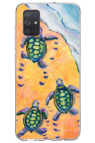 Oihxse Funda para Galaxy Note 10 Lite/A81/M60S Transparente, Estuche con Samsung Galaxy Note 10 Lite/A81/M60S Ultra-Delgado Silicona TPU Suave Protectora Carcasa Océano Animal Serie Bumper (C4)