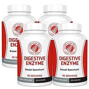 Silver Fern Brand Ultimate Digestive Enzyme Supplement - 4 Bottles - High Potency, Multi Enzyme - Maximum Digestive Comfort & Food Tolerance - Amylase, Protease, Cellulase, More