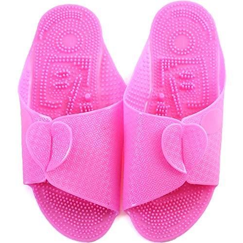 B/H Zapatillas Baño Secado Rápido Piscina,Zapatillas de Masaje Antideslizantes portátiles, Use Zapatillas Plegables ultrafinas-Pink_S,Ducha y Baño Chanclas Antideslizante