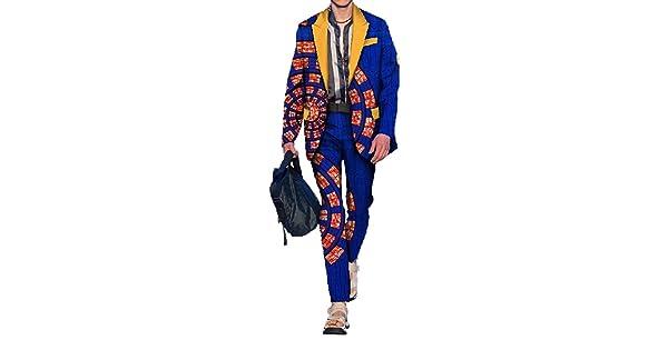 M/&S/&W Mens Fashion OL African Print Casual Long Sleeves Dress Shirts