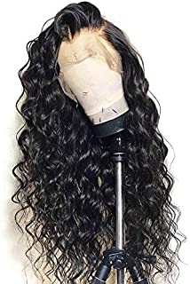 13x6 Lace Front Wig Loose Wave Pre-plucked Hairline Human Hair Wigs with Baby Hair 130% Density for Black Women Natural Color 12 inch