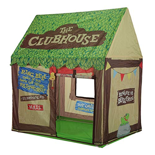 Image of Kids Play Tent Children Playhouse - Indoor Outdoor Tent Model Clubhouse Green Portable