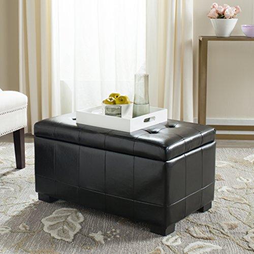 Safavieh Hudson Collection Nolita Sitzbank, klein, Leder, Braun Modern One Size schwarz