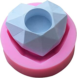 Chirsemey Moldes de Silicona Fabricación de Velas Forma de corazón romántico Molde de Gel de sílice