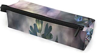 Glasses Case Cute Ladybug Raindrop Multi-Function Zippered Pencil Box Makeup Cosmetic Bag for Women/Men